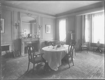The Dining Room in Grace Lowrey (née Woodruff), Lady Ashfield's home