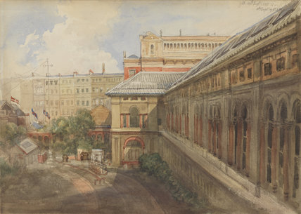 Exterior of the National Portriat Gallery buildings at South Kensington, facing Exhibition Road