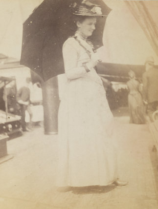 'Alys on S.S. Elbe' (Alys Whitall Russell (née Pearsall Smith))