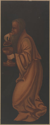 Figure from painting of 'Adoration of the Magi' on the rood screen at Plymtree Church (formerly thought to be John Morton)