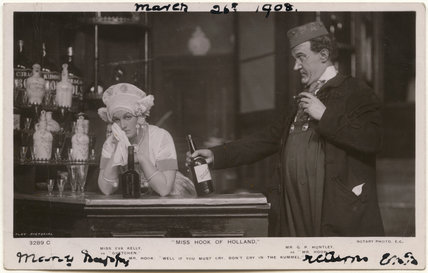 Eva Kelly as Gretchen and George Patrick Huntley as Mr Hook in 'Miss Hook of Holland'