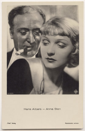 Hans Albers and Anna Sten in 'Bombs Over Monte Carlo'