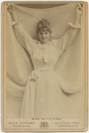 Letty Lind (Letitia Elizabeth Rudge) as Donna Elto in 'Ruy Blas and the Blasé Roué'