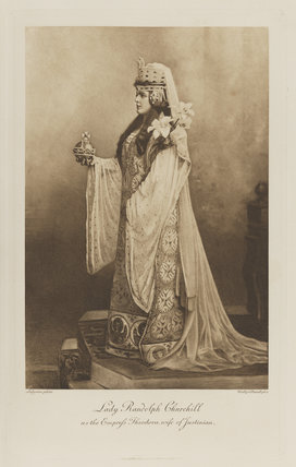 Jeanette ('Jennie') Churchill (née Jerome), Lady Randolph Churchill as the Empress Theodora, wife of Justinian