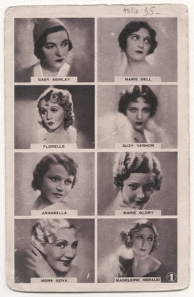 Gaby Morlay; Marie Bell; Florelle; Suzy Vernon (née Amelie Paris); Annabella (Suzanne Charpentier); Marie Glory (née Raymonde Louise Marcelle Toully); Mona Goya; Madeleine Renaud