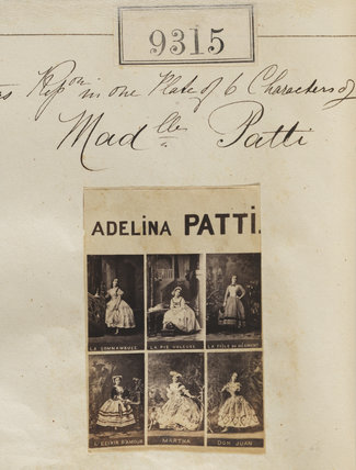 Adelina Patti in costume for six different roles
