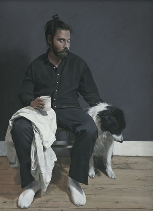 Tim and the dog by Jack Freeman