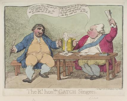 'The Rt Honble catch singers' (Frederick North, 2nd Earl of Guilford; Charles James Fox)
