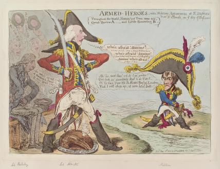 'Armed-heroes' (Robert Banks Jenkinson, 2nd Earl of Liverpool; Henry Addington, 1st Viscount Sidmouth; Napoléon Bonaparte)