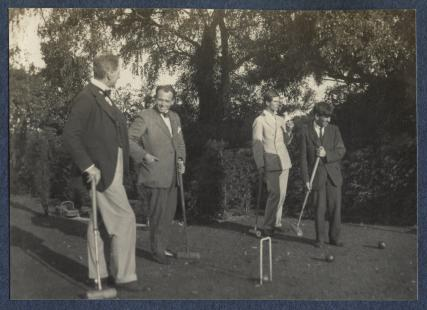 Philip Edward Morrell; James Ching; Sir Stanley Spencer and an unknown man