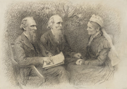 Baron Kelvin with his brother and sister