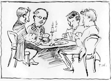 Four men at cards