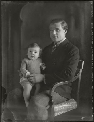 10th Duke of Manchester with his son