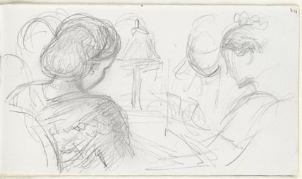 Sketch of three unknown women