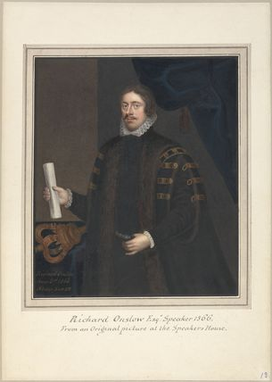 Possibly fictitious portrait of Richard Onslow