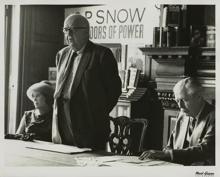 Pamela Hansford Johnson (Lady Snow); Charles Percy Snow, Baron Snow and Harold Macmillan, 1st Earl of Stockton