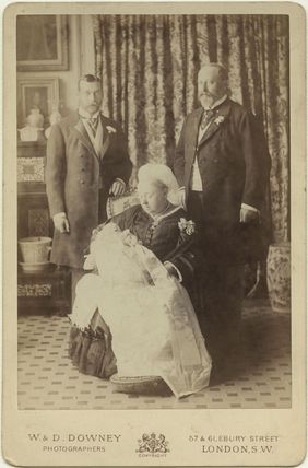 Four Generations' (King George V; Prince Edward, Duke of Windsor (King Edward VIII); Queen Victoria; King Edward VII)