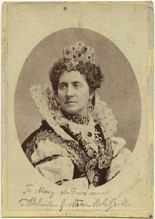 Adelaide Ristori as Queen Elizabeth in 'Elizabeth, Queen of England'