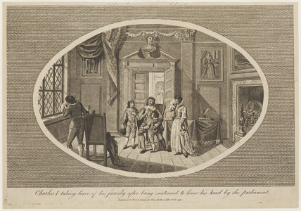 'Charles I taking leave of his family after being sentenced to loose his head by the Parliament'