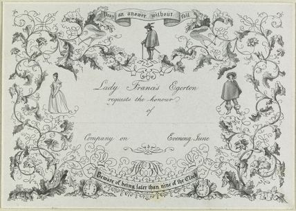'Invitation from Lady Francis Egerton'