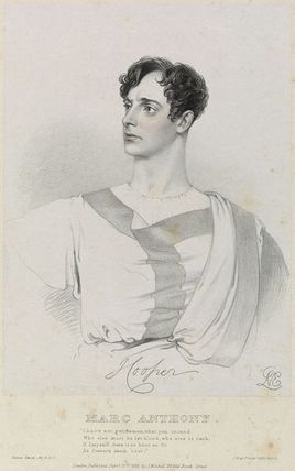 Hooper as Marc Anthony in 'Julius Caesar'