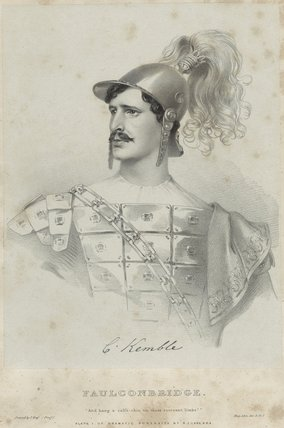 Charles Kemble as Faulconbridge in 'King John'