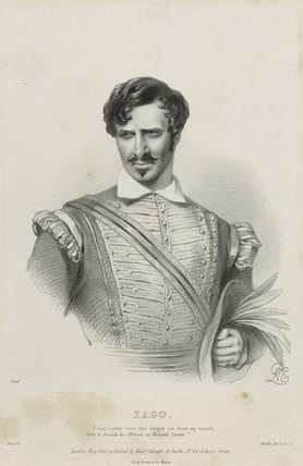 Charles Kemble as Iago in 'Othello'