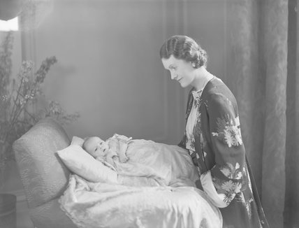 Gwendolen Jane (née Armstrong-Jones), Lady Buckley with her daughter Jane