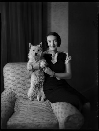 Maisie Esther (née Bigsby), Lady Nugent with her dog