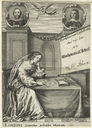 John Blagrave in the title page to 'Planispherium Catholicum, quod vulgo dicitur The Mathematical Jewel'