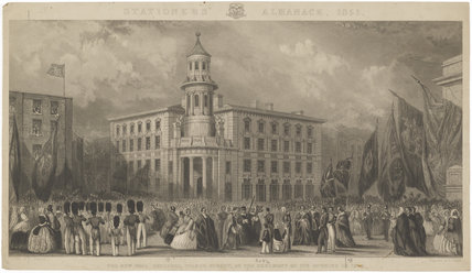 The opening of the new Coal Exchange (Prince Albert of Saxe-Coburg-Gotha)