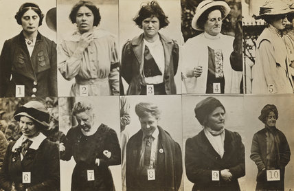 'Surveillance Photograph of Militant Suffragettes'