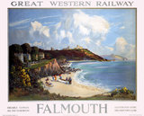 'Falmouth',  GWR poster, 1923-1942.
