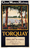 'Torquay - The English Riviera', GWR poster, 1923-1947.
