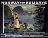'Norway for Holidays', B&N Line poster, c 1930s.