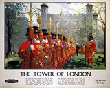 'The Tower of London', BR (LMR) poster, 1948-1965.