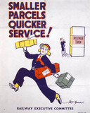 'Smaller Parcels - Quicker Service!', poster, 1939-1945.