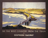 'See the West Country from the Train', SR poster, 1947.