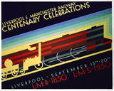 'Liverpool & Manchester Centenary Celebrations', LR and MR poster, 1930.