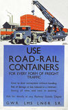 'Use Road-Rail Containers', LNER/LMS/GWR/SR, 1923-1947.