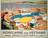 'Morecambe and Heysham', LMS poster, 1923-1947.