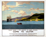 'Come to Ulster', LMS poster, c 1930s.