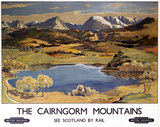 'The Cairngorm Mountains', BR (ScR) poster, 1948-1965.