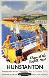 'Hunstanton; Queen of the Norfolk Coast', BR (ER) poster, 1948-1965.