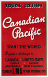 'Canadian Pacific - Spans the World', LMS poster, c 1930s.
