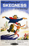 'Old and young find Skegness is so bracing!', BR poster, c 1961.