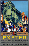'Historic Romantic Exeter', GWR poster, 1923-1947.