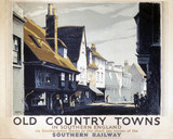 'Old Country Towns in Southern England', SR poster, 1938.