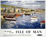 'Go abroad to the Isle of Man', BR (LMR) poster, 1948-1965.