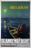 'Belgium - Blankenberghe, The Finest Sands', Belgian State Railways poster, c 1920s.